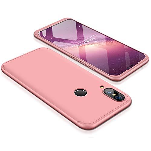 9-evei Huawei P Smart 2019 Hülle, HandyHülle 3 in 1 Ultra Dünner PC Harte Case 360 Grad Ganzkörper Schützend Schutzhülle Tasche für Huawei P Smart 2019 (Rosa) -