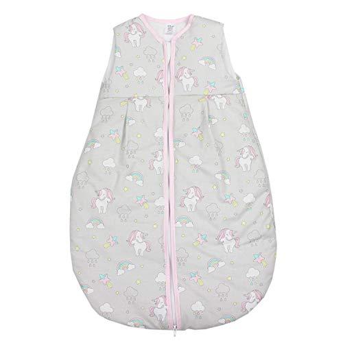 TupTam Baby Schlafsack Wattiert ohne Ärmel ANK001, Farbe: Einhorn Grau, Größe: 92-98