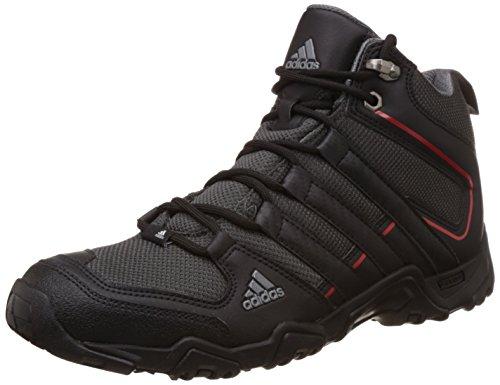 adidas Men's Aztor Hiker Mid Dark Grey, Black and Red Trekking and Hiking Footwear Boots - 9 UK