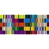 Artland Qualit/ätsbilder I Glasbilder Deko Glas Bilder 20 x 20 cm Abstrakte Motive Muster Streifen Digitale Kunst Bordeauxrot D3HO Elegant abstrakt Design