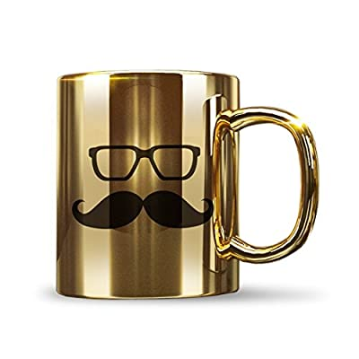 Mad Factory Limited Edition Ceramic Coffee Mug, 1-Piece, Golden