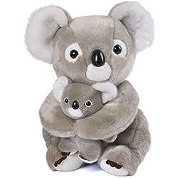 "Lazada Plush Mum Koala con Baby Koala Set Juguetes de Peluche Regalos geniales para niños Gris Claro 11""(28cm)"