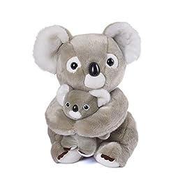 Lazada Peluche Mamma Koala con Baby Koala Set Animali di Peluche Grandi Regali per Bambini Grigio Ch