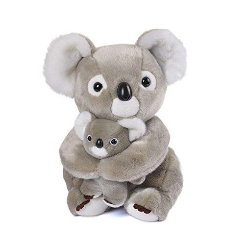 """Lazada Peluche Mamma Koala con Baby Koala Set Animali di Peluche Grandi Regali per Bambini Grigio Chiaro 11"""" (28cm)"""