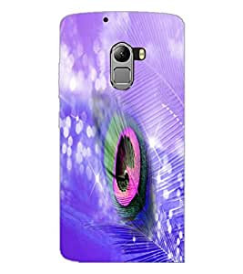 PrintDhaba Peacock Feather D-4934 Back Case Cover for LENOVO VIBE X3 LITE (Multi-Coloured)