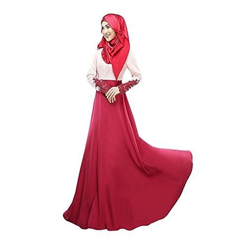Zhuhaixmy Muslim Damen Kaftan Islamic Lange Ärmel Arab Abaya Turkish