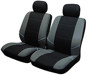 asientos: Sakura SS3633 - Juego de fundas para asientos delanteros de coche, color negro y...