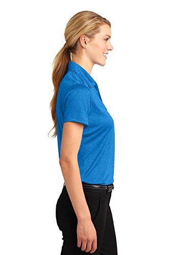 Sport-Tek -  Polo  - Donna Blue Wake Hthr