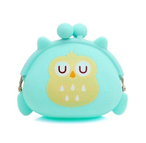 Covermason Frauen-Geldbeutel Owl Silikon Gelee Brieftasche ändern Bag Schlüssel Beutel Geldbörse (Grün) (Gelee-geldbeutel-handtasche)