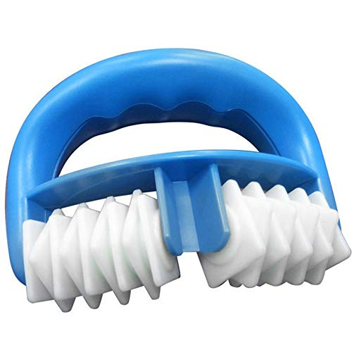 8Eninide Handheld Massage Body Roller for Relief Muscle Body Massage Stick Health Care Blue & White