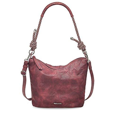 Tamaris Damen Lindsey Crossbody Bag Umhängetasche, 26x12x24 cm Vino