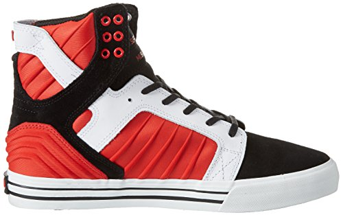 Supra Herren Skytop High-Top Sneaker Mehrfarbig (Black/Red-White)