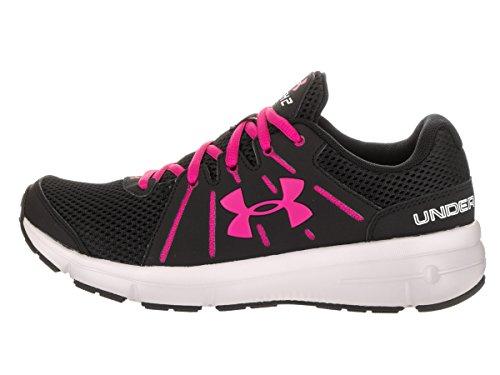 Under Armour UA W Dash RN 2, Scarpe Running Donna Black/Glacier Gray/Tropic Pink