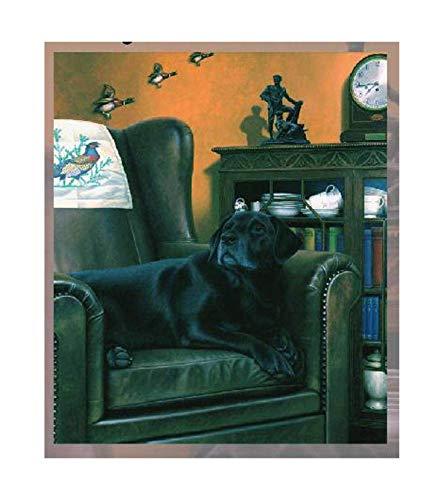 Past Times von Nigel Hemming Open Edition, Oberer Rand Graviert mit Labrador Retrievern (Cellini Time)