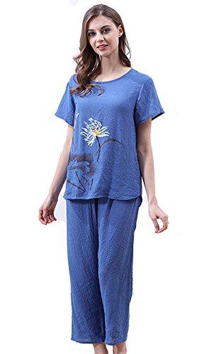 Tonwhar - Ensemble de pyjama - Femme Bleu