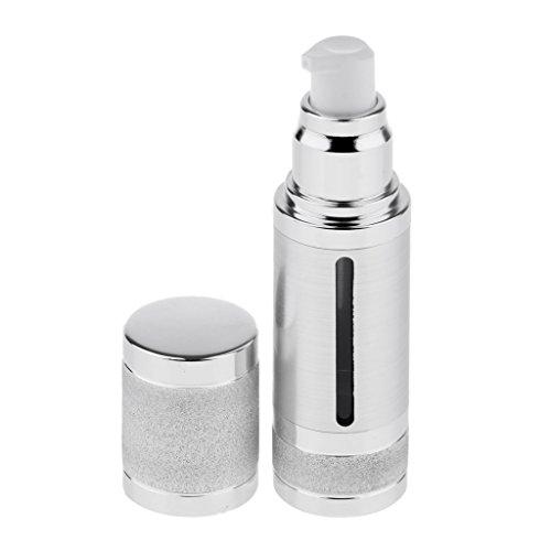 MagiDeal Kunststoff 30ml Pumpflasche Lotion Cremeflasche Reiseflasche, Airless und Nachfüllbar - Silber -