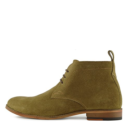 Kick Footwear Herren Leder Classic Desert Boots Suede Casual Lace Up Ankle Boots - UK 9/EU 43, Camel (Suede Stiefel Casual)