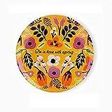 8 pouces Tenture murale plaque décorative fleur modèle en céramique assiettes à dîner à la maison vaisselle@Printemps