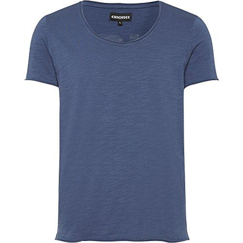 Chiemsee Uomo Vintage Style con schienale Print T-Shirt 681 Dark Denim