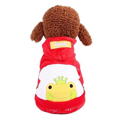 Hunde Minion Kostüm Den Für - Morbuy Hund Katzen Kostüme Welpe Kostüm Kapuzenpullis, Haustiere Pullover Sweater Halloween Haustier Nettes Cosplay für Kleine Katzen Welpen (XL, Frosch rot)