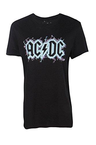 charbon Femmes aria t-shirt groupe acdc à gros slogan Charbon