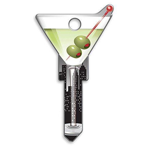 Lucky Line Schlüssel Formen, Amerikanische Flagge, House Schlüsselrohling KW/11, 1Schlüssel (B101K) Martini Kwikset KW/11 Red Martini-glas