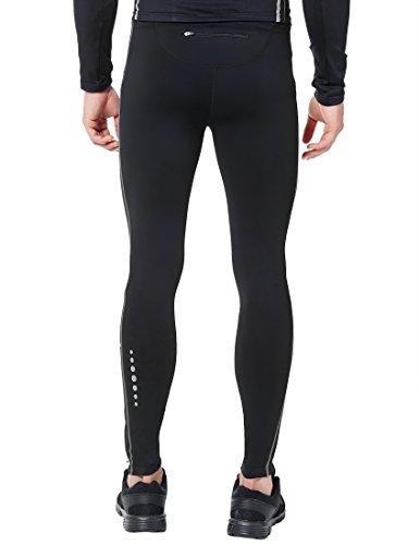 Ultrasport Panta Jogging per Uomo Thermo-Dynamic Lunghi, Imbottiti con Funzione Quick Dry Nero/Grigio Paloma