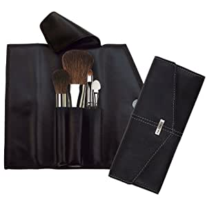 da Vinci - Basic - Assortiment de 4 pinceaux à maquillage dans un étui en cuir noir