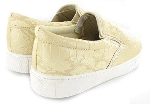 Generic , Damen Sneaker schwarz schwarz Beige Croc