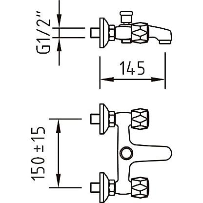 Clever 96086 Grifo de baño/ducha bimando (cromo)