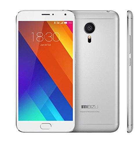 """Meizu MX5-Smartphone 5,5""""(Wi-Fi, 4G LTE, Octa Core, 3 GB di RAM, 32 GB di memoria interna, macchina 20,7 MP MP 5), colore: grigio chiaro"""