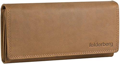 Lea große Washed-Vintage Damen-Geldbörse aus geöltem Echt-Leder, Farbe:Chestnut-Brown -