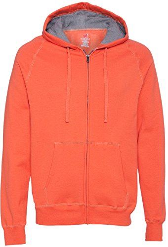 Hanes Men's Nano Premium Lightweight Fleece Hoodie - Vintage Orange