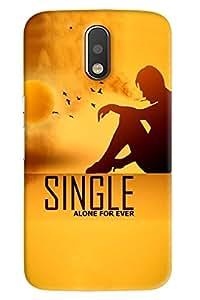 Blue Throat Man Sitting Single Alone For Ever Printed Designer Back Cover/Case For Motorola Moto G4