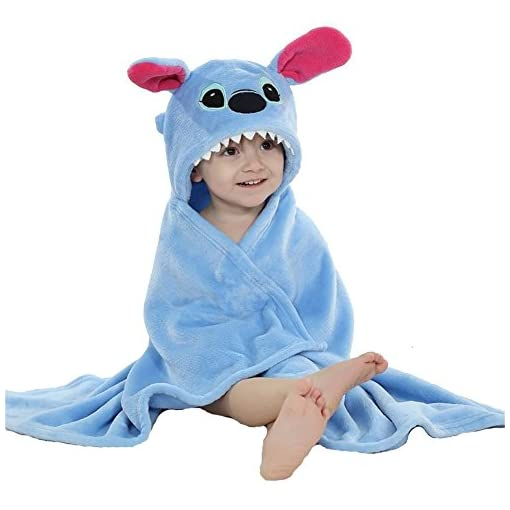 OKSakady Baby Swaddle Wrap Infant Toddler Animal Bathrobe Fleece Towel Blanket with Hooded for Bath Pool Beach Shower Gift