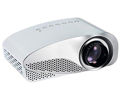 Tragbare LED Vidéo TV Beamer Projektor für Heimkino Cinema Multimédia-Player avec HDMI / AV / VGA / SD / USB / TV-Anschlüsse , white