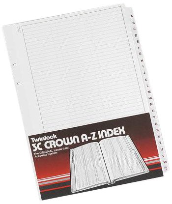 Twinlock 75851 3C Crown Fünfspaltige Kontoblätter, 100 Stück