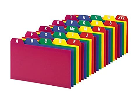 A-Z Index Cards, 1/5 Cut Tab, 3