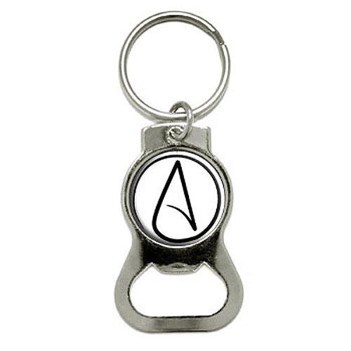 UNIVERSUM Atheist Symbol–Flasche GAP Opener Schlüsselanhänger Ring