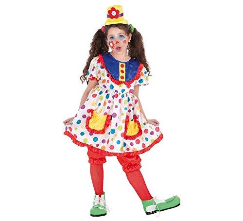 Zzcostumes LLOPIS Kinderkostüm Clown Tina t-s