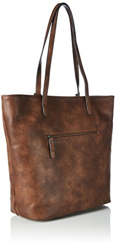 Tom Tailor Acc Damen Jany Shopper, 33x32x14 cm Braun (cognac 22)