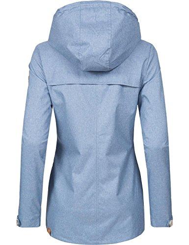 Ragwear Damen Übergangs-Jacke Like You (vegan hergestellt) Hellblau Gr. M - 2