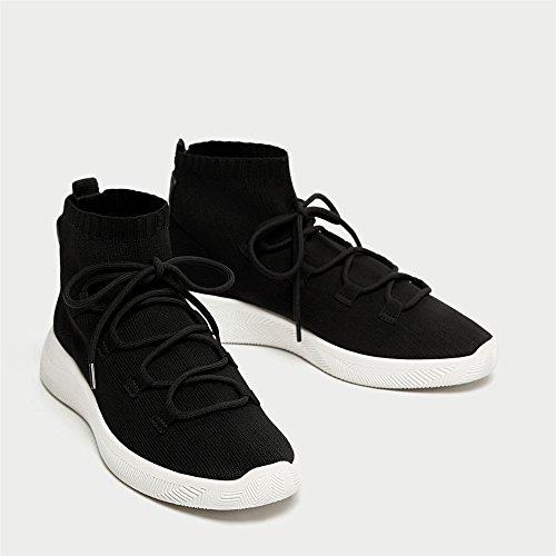 Stivaletti fascetta scarpe piatte black