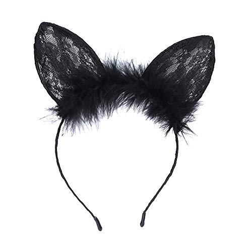rty Fancy Festival Zubehör,Sexy Schwarze Katze Ohren Stirnband Party Urlaub Party Hoop ()