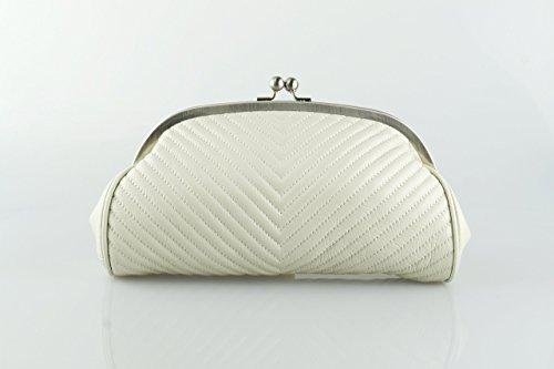 Clutch Aus Weißem Leder Handtaschen (Leder Clutch
