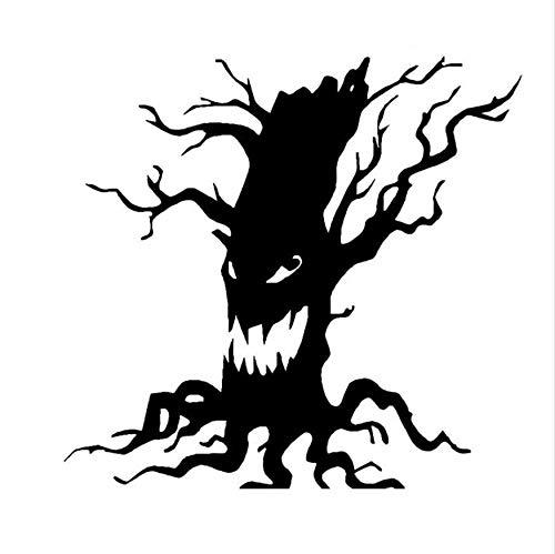 ndaufkleber Halloween Scary Baum Gesicht Wc Aufkleber Home Decor 18 * 17 Cm ()