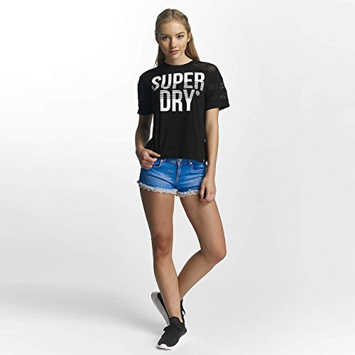 Superdry Donna Maglieria/T-Shirt Pacific Pieced Nero
