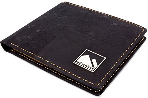 natventure® Kork Geldbörse / Portemonnaie – vegan & ökologisch mit RFID Schutz – in braun oder schwarz - 2