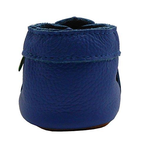 Sapatos Macios Bebê Sandálias De Bebê Couro Sapatos Azul Infantis Unisex Sayoyo Real aZqar8fw