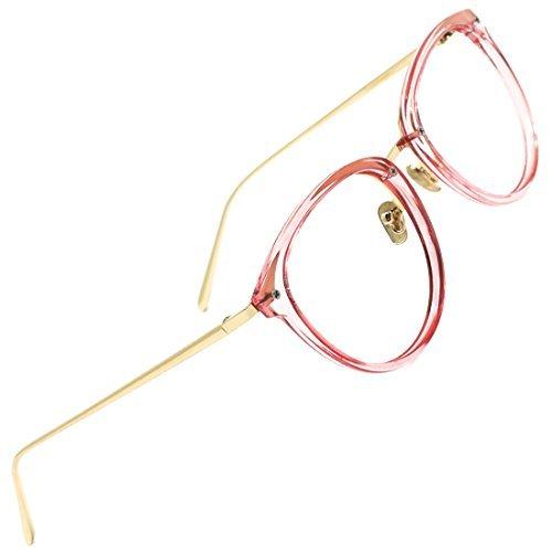 TIJN Brille Ohne Sehstärke Brillengestelle Damen Brillenfassung Fake Brille Ohne Stärke für...